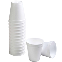 Disposable Polystyrene Foam Cups (Pk 1000)