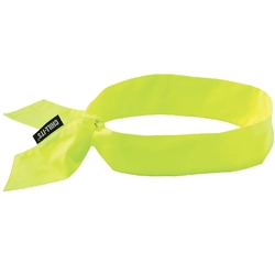 Ergodyne CHILL-ITS® 6700 Lime Cooling Bandana (Tie)