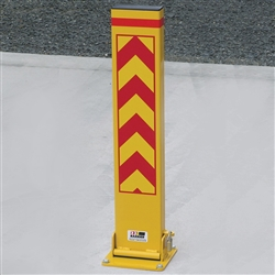 Barrier Security Fold Down Bollard 800mm yellow FD150