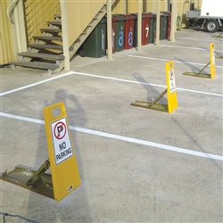 Barrier Security Car Space Protector Lok-up w/ No Parking Sign LU-NP