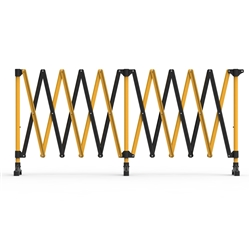 Barrier Group 6m Black/Yellow Port-a-guard Expandable Barrier Kit BPG600BY