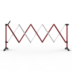 Barrier Group 3m Red/White Port-a-guard Expandable Barrier Kit BPG300RW