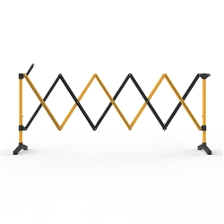 Barrier Group 3m Black/Yellow Port-a-guard Expandable Barrier Kit BPG300BY