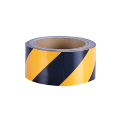 Black/Yellow Reflective Tape 50mm - Sold Per Metre