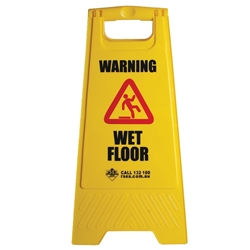 "Safety A-Frame ""Wet Floor"" Yellow  Floor Sign BASAC11Y"