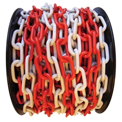 Red/White Plastic Chain 8mm (Sold per Metre)