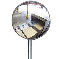 Economy Outdoor Convex Mirror 30cm(with Wall Bracket)