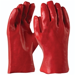 Blue Rapta Red 27cm PVC Gloves