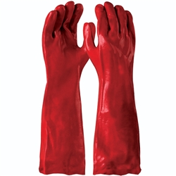 Blue Rapta Red 45cm PVC Gloves