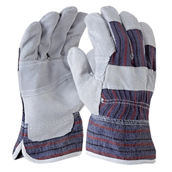 Blue Rapta Candy Backed Leather/Cotton Work Gloves