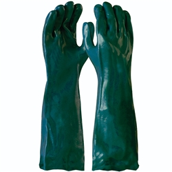 Blue Rapta Green PVC 45cm Sand Dipped Gloves