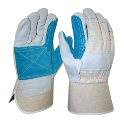 Blue Rapta Reinforced Palm Candy Back Gloves
