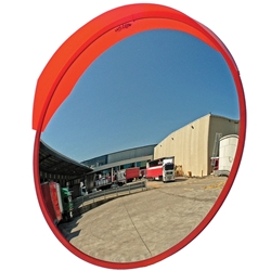 Heavy Duty Traffic Convex Mirror 60cm (with robust post bracket)