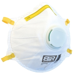 Blue Rapta P1 Valved Cupped Respirator (Bx 10)