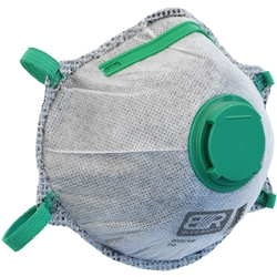 Blue Rapta P2 Valved Cupped Carbon Activated Respirator (Bx 10)