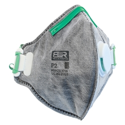 Blue Rapta P2 Vented Flat Fold Carbon Activated Respirator (Bx 10)