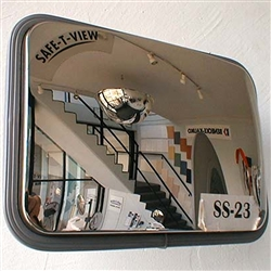 Convex Mirror Prem OD SS 230x320MM Wall & 60mm post 6420 W/P