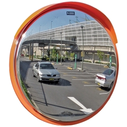 Convex Mirror Prem OD SS with visor 630mm 50 60&76mm Post Mount 6421P