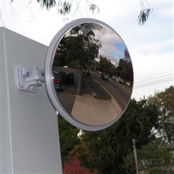 Convex Mirror Prem SS 310mm U Bolt 60mm Post 6419W/P
