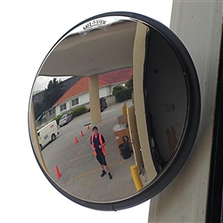 Convex Mirror Prem SS 470mm  U Bolt 60mm 6418 W/P