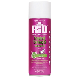 Rid Insect Repellent Medicated with Antiseptic Aerosol 100g 33204100