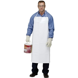 Glo-Safe Medium Duty Supported White PVC Apron