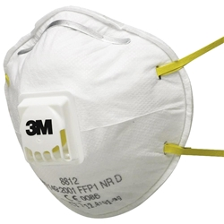 3M™ 8812 FFP1 Valved Cupped Particulate Respirator (Bx 10)