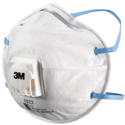 3M™ 8822 P2 Valved Cupped Particulate Respirator (Bx 10)