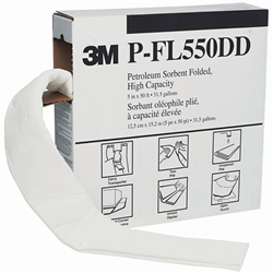 3M™ Oil/Fuel Only Folded Sorbents Pads P-FL550DD