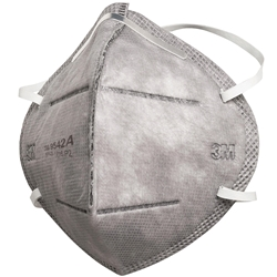 3M™ 9542A P2 Flat Fold Particulate Respirator w/ Nuisance Level* Organic Vapour Relief (Bx 25)