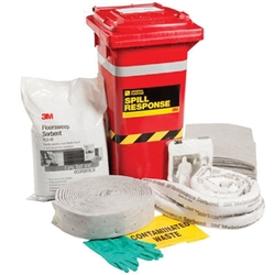 3M™ General Purpose 130L Sorbent Spill Kit Wheelie Bin MSRK-130