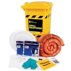 3M™ Oil/Fuel Only 190L Sorbent Spill Kit Wheelie Bin OSRK-190