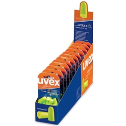 uvex x-fit XF-UC-D 26dB CL5 Uncorded Earplug Blister Packs (Bx 12x5pr)