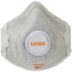 uvex silv-Air classic Cupped P2 Carbon Filtered Disposable Respirator w/valve 2228 (Bx 15)