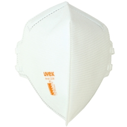 uvex silv-Air classic P2 Flat Fold Disposable Respirator No Valve 8733-208 (Bx 30)