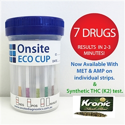 Onsite Eco 7 Cup (with K2) Urine Drug Test OD-066K