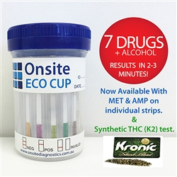 Onsite Eco 7 Cup + Alcohol (with K2) Urine Drug Test OD-066kA