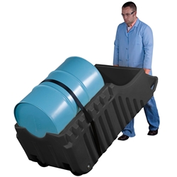 JUSTRITE EcoPolyBlend™ Spill Containment Indoor/Outdoor Caddy 28665