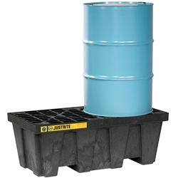 PBA Safety Spill Pallet 2 Drum In-line 250L 1134kg Black 28623