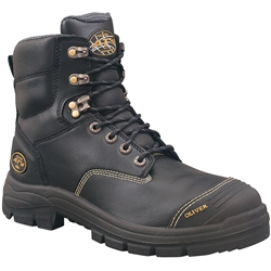 Oliver AT 55-345 150mm Black Lace Up Safety Boots