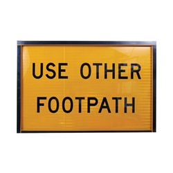 Use Other Footpath Boxed Edge Sign 900 x 600mm