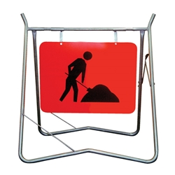 Symbolic Worker Metal Sign 900x600mm