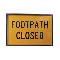 Footpath Closed Metal Boxed Edge Sign 900 x 600mm
