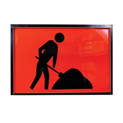 Symbolic Worker Metal Boxed Edge Sign 900 x 600mm