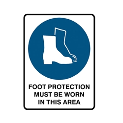 Safety Footwear Must Be Worn Metal Sign 600x450mm