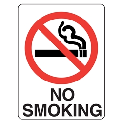 No Smoking Metal Sign 300x225mm