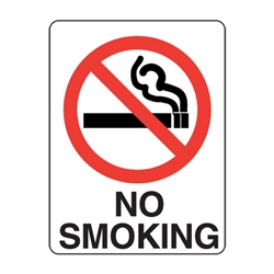No Smoking Poly Sign 450x300mm