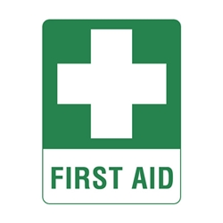 First Aid Sticker 140 x 120mm