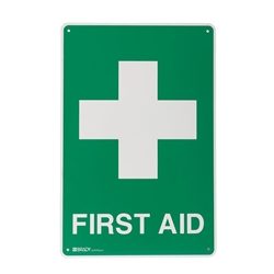 First Aid Metal Sign 300x225mm