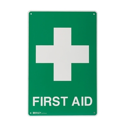 First Aid Metal Sign 600x450mm